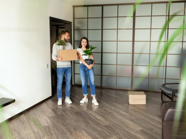 renters moving into their new home